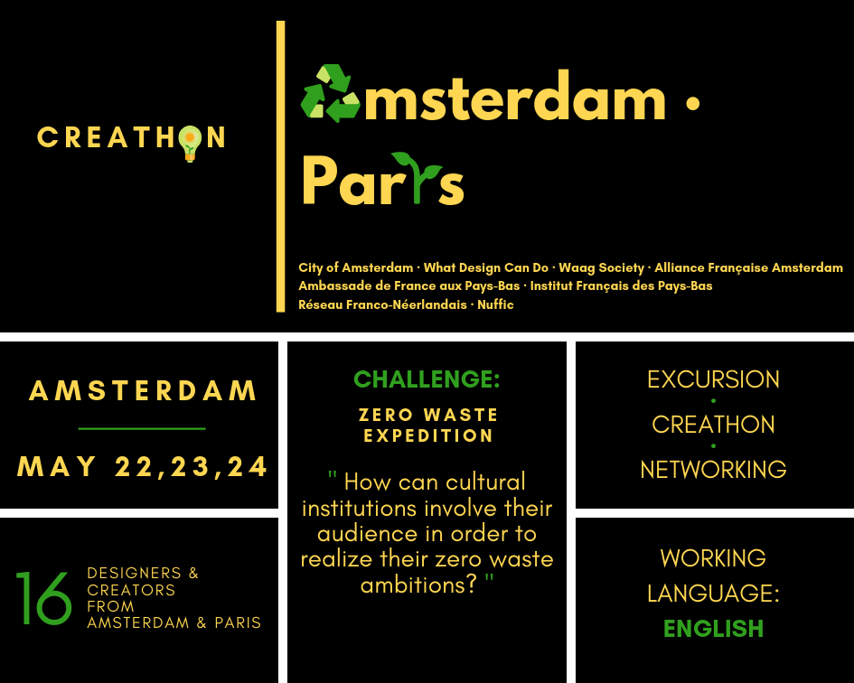 Call for applications Creathon Amsterdam-Paris