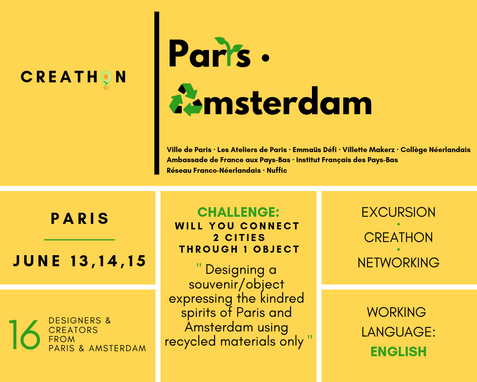 Call for applications Creathon Paris-Amsterdam